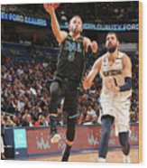 Dallas Mavericks V New Orleans Pelicans Wood Print