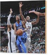Dallas Mavericks V San Antonio Spurs Wood Print