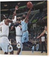Denver Nuggets V Memphis Grizzlies Wood Print