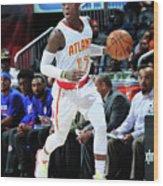 Detroit Pistons V Atlanta Hawks Wood Print