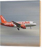 Easyjet Unicef Livery Airbus A319-111 Wood Print