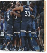 Minnesota Timberwolves V Oklahoma City Wood Print