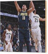 New Orleans Pelicans V Denver Nuggets Wood Print