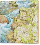 Pocono Mountain Stream, Pennsylvania Wood Print