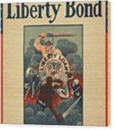 Wartime Propaganda Poster Wood Print