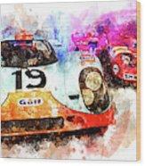 917 At Le Mans Wood Print