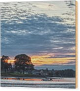 Danvers River Sunset Wood Print