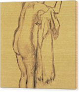 A Bather Drying Herself By E Degas Wood Print