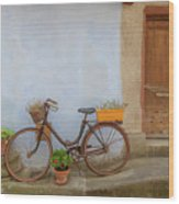 A Bicycle At Number 10 Wood Print