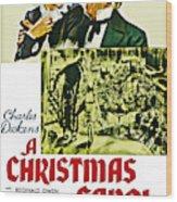 A Christmas Carol Movie Poster 1938 Wood Print
