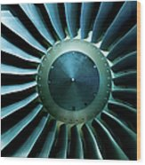 A Close Of Up A Turbine Showing The Wood Print