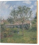 A Corner Of The Meadow At Eragny, 1902 Wood Print