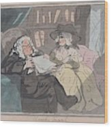 A Counselor's Opinion After He Had Retired From Practice After Thomas Rowlandson British, London 17 Wood Print