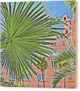 A Don Cesar Palm Frond Wood Print