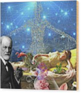 A Dream For Dr Freud Wood Print
