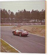 A Ferrari 250 P At Le Mans, France Wood Print
