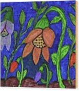 A Flower Garden Wood Print