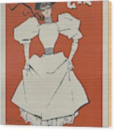 A Gaiety Girl, 1894 French Vintage Poster Wood Print