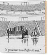 A Gentleman Wood Print