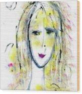 A Girl By The Artist Catalina Lira Wood Print