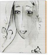 A Girl Wood Print