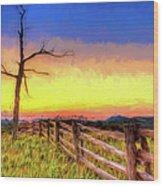A Gorgeous Blue Ridge Sunrise Ap Wood Print