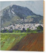 A Greek Village Wood Print
