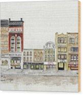 A Greenwich Village Streetscape Wood Print