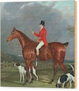 A Huntsman And Hounds, 1824  Wood Print