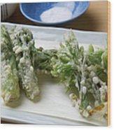 A Japanese Dish Of Wild Plants Wood Print