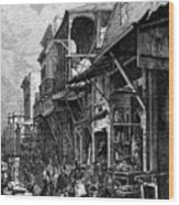 A Market Place In San Francisco Wood Print