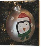 A Merry Christmas Greeting Wood Print