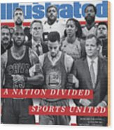 A Nation Divided, Sports United Sports Illustrated Cover Wood Print