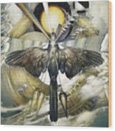 A Painting Alludes To Powers That Might Enable Birds To Migrate. Wood Print