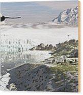 A Receding Glacial Scene Circa 18,000 Wood Print