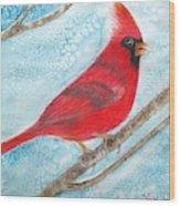 A Red Bird  Wood Print