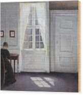 A Room In The Artist's Home In Strandgade, Copenhagen, With The Artist's Wife - Digital Remastered Wood Print