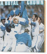 A Royal Crown 1985 World Series Sports Illustrated Cover Wood Print