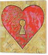 A Steamy Romance Wood Print