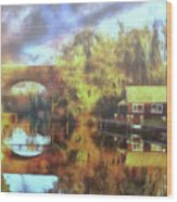 A Stop Along The Wey Wood Print
