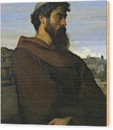 A Thinker A Young Roman Monk Wood Print