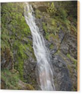 A Touch Of Light On Bridal Veil Falls Wood Print