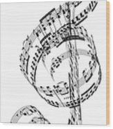 A Treble Clef Made From Beethovens Wood Print