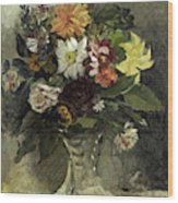 A Vase Of Flowers, 1833 Wood Print