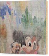 A Walk With Walt Wood Print