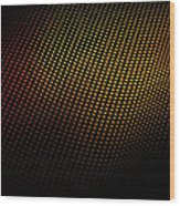 A Wave Pattern Of Dots Over Shadow Wood Print