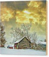 A Winter Eve Wood Print