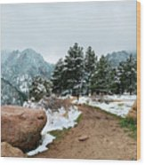 A Winter's Day In The Flatirons Wood Print