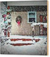 A Wisconsin Christmas Wood Print