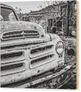 Abandoned Ghost Town Studebaker Truck Wood Print
